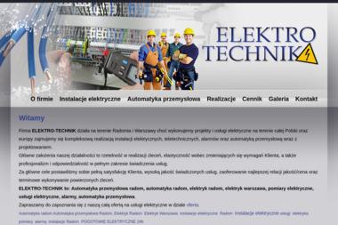 ELEKTRO-TECHNIK - Alarmy Jastrzębia