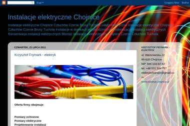 KRZYSZTOF FRYMARK - ELEKTRYK - Firma Elektryczna Chojnice