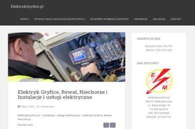 ElektrykGryfice.pl Marcin Maksymiszyn - Elektryk Gryfice