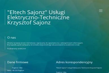 Sajonz Krzysztof Eltech Sajonz Usługi Elektryczno Techniczne - Instalacje Pogórze
