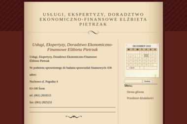 Usługi Ekspertyzy Doradztwo Ekonomiczno Finansowe Pietrzak Elżbieta - Usługi finansowe Nochowo