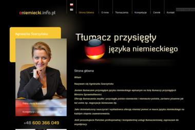 Tłumacz przysięgły języka niemieckiego Agnieszka Szarzyńska - Tłumacze Zamość