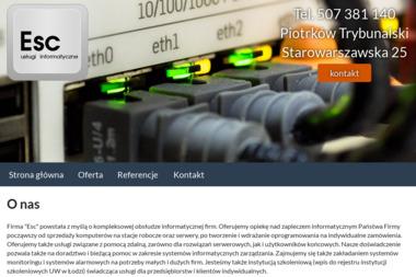 ESC - usługi informatyczne - Programista Piotrków Trybunalski
