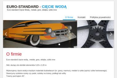 Euro Standard Cięcie Wodą. Cięcie wodą, gres - Obróbka Metali Porosły