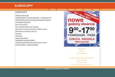 Eurocopy. Sprzedaż artykułów biurowych, usługi kserograficzne, wyrób pieczątek - Poligrafia Szamotuły