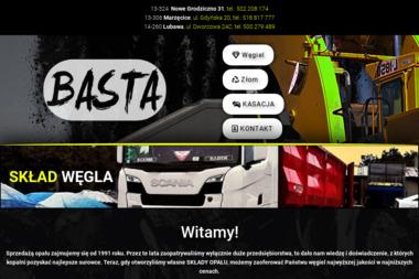 FHU Basta Stanisław Sokołowski. Węgiel, Złom - Skład Opału Lubawa