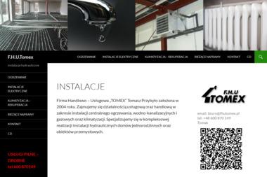 """F.H.U. """"TOMEX"""" Tomasz Przybyło - Instalacje grzewcze Medynia Głogowska"""