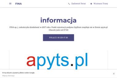 Fina sp.j. - Usługi Komputerowe Łomża