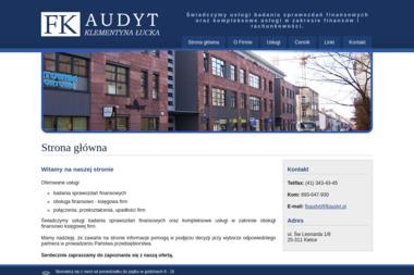FK Audyt Klementyna Łucka - Biznes plan Kielce
