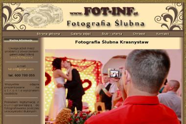 Usługi Fotograficzne i Informatyczne Fot-Inf Mirosław Pastuszak. Fotograf ślubny, zdjęcia ślubne - Sesje zdjęciowe Krasnystaw