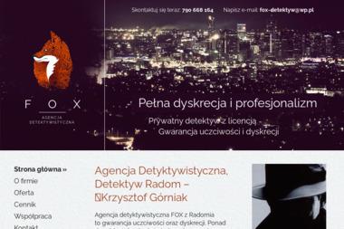 FOX – Krzysztof Górniak - Biuro Detektywistyczne Radom