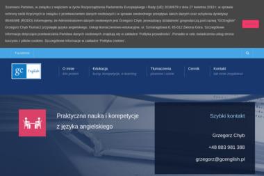 GC English Grzegorz Chyb. Usługi Tłumaczeniowo-Edukacyjne - Nauczyciele angielskiego Zielona Góra