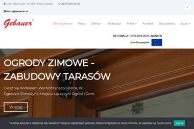GEBAUER Okna, Drzwi, Okiennice - Autoryzowany Punkt Sprzedaży - Sprzedaż Okien Aluminiowych Tarnów Opolski