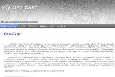 Geo-Cart Dariusz Świdnicki Usługi Geodezyjno-Kartograficzne. Tyczenia, podziały nieruchomości - Geodezja Tarnów