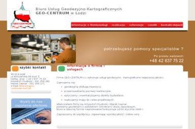 Geo-Centrum s.c. Biuro Usług Geodezyjno-Kartograficznych - Geodezja Łódź