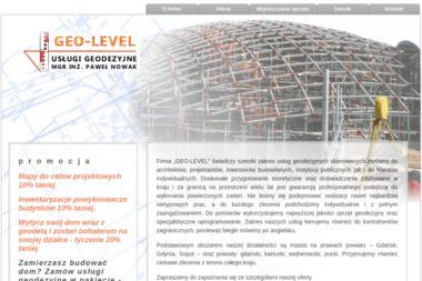 Geo-Level Usługi Geodezyjne mgr inż. Paweł Nowak. Geodezja, usługi geodezyjne - Geodeta Gdańsk