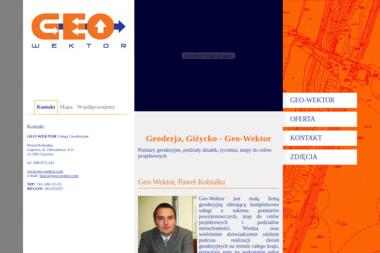 Geo-Wektor-Usługi Geodezyjne Paweł Kobiałka. Podziały, pomiary, tyczenia - Firmy Giżycko