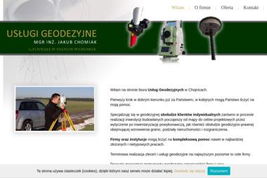 Usługi Geodezyjne Jakub Chomiak - Geodeta Chojnice