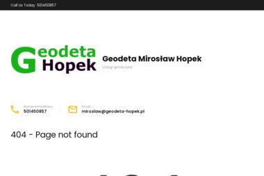 Geodeta Mirosław Hopek. Geodezja, geodeta - Geodeta Mikołów