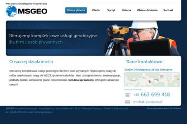 MSgeo Pracownia Geodezyjno-Inżynieryjna. Geodeta, geodeta mapa - Geodeta Marzysz