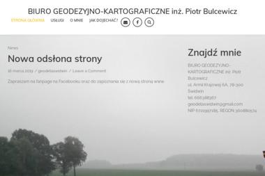 Biuro Geodezyjno-Kartograficzne Inż. Piotr Bulcewicz - Geodeta Świdwin
