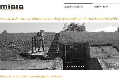 Firma Geodezyjno-Projektowa Miara. Mapy co celów projektowych, tyczenia, inwentaryzacje - Usługi Geodezyjne Gorlice