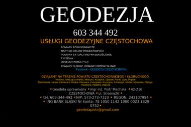 Piotr Machała. Usługi geodezyjne - Geodeta Częstochowa