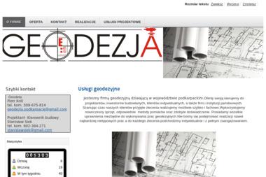 Usługi Geodezyjne Piotr Król - Geodeta Stalowa Wola