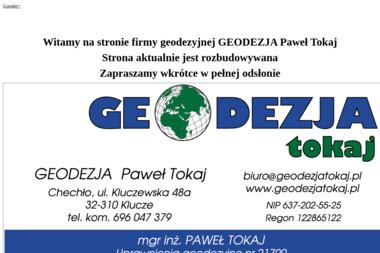 Geodezja Paweł Tokaj - Geodeta Chechło