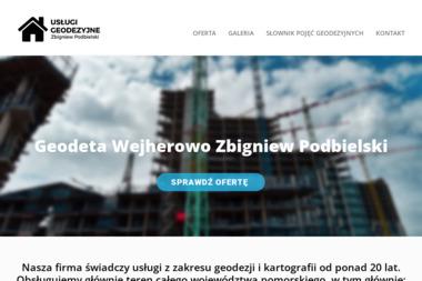 Usługi Geodezyjne Zbigniew Podbielski. Geodezja, mapa geodezyjna - Geodeta Wejherowo