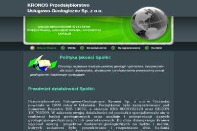 Przedsiębiorstwo Usługowo-Geologiczne Kronos Sp. z o.o. - Geolog Gdańsk