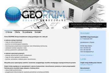 Geoprim - Usługi Geodezyjne. Tyczenia, podziały, inwentaryzacje - Firma Geodezyjna Stare Babice
