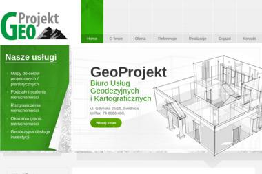 Geoprojekt Biuro Usług Geodezyjnych i Kartograficznych. Geodezja, mapy do celów projektowych - Geodeta Świdnica