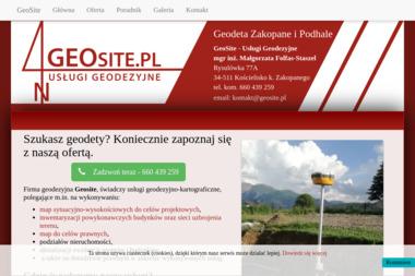 GeoSite - Usługi Geodezyjne - Małgorzata Folfas-Staszel - Geodeta Kościelisko