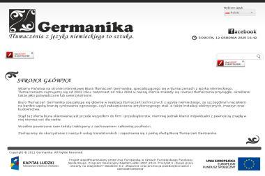 Germanika Adrianna Chudzikiewicz. Język niemiecki, tłumaczenia techniczne - Kurs niemieckiego Chrzanów