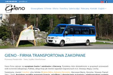 Gieno-Transport. Przewóz osób - Przewóz osób Zakopane