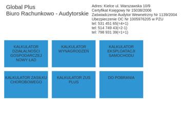 Global Plus Biuro rachunkowo-audytorskie Marcin Chatys - Biuro rachunkowe Kielce