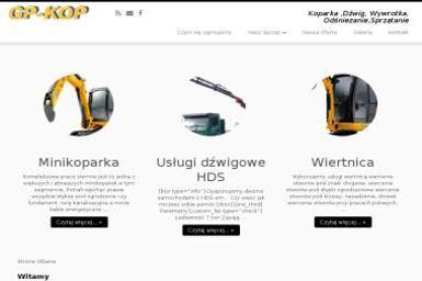 GP-KOP. Minikoparka, transport - Odśnieżanie dachów Stąporków