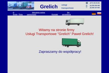 Usługi transportowe Grelich. Paweł Grelich - Firma Spedycyjna Większyce