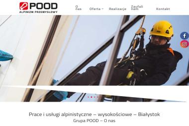 POOD Alpinizm Przemysłowy - Odśnieżanie dachów Białystok