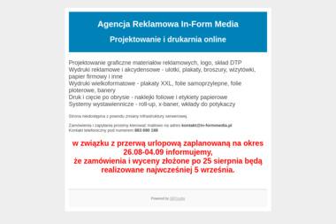 In-Form Media. Agencja reklamowa, bannery - Wydruk Wielkoformatowy Ustrzyki Dolne
