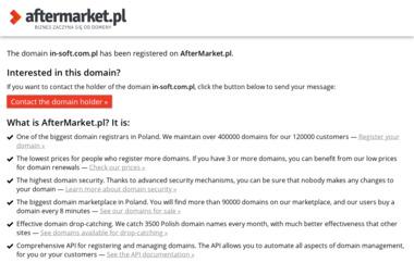 In-Soft. Sławomir Howaniec - Pozycjonowanie w Google Kalety