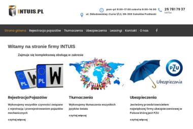 INTUIS Biuro Usługowo-Handlowe. Tłumaczenia, ubezpieczenia - Tłumacze Sokołów Podlaski