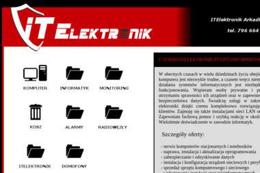 ITElektronik Arkadiusz Litwin. Informatyka, monitoring, alarmy - Serwis komputerowy Płock