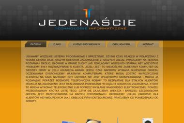 Jedenaście. Naprawa komputerów, usługi komputerowe, dojazd do klienta - Pozycjonowanie stron Złotniki