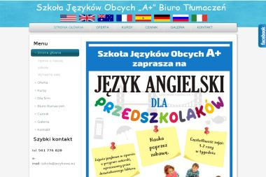 Szkoła Językowa A+ - Tłumaczenie Angielsko Polskie Wałcz