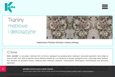 Kalina SC. Tkaniny meblowe, dekoracyjne i akcesoria meblowe - Tapicer Gdańsk