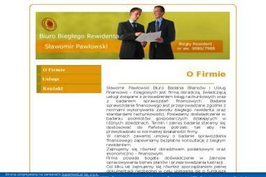 Biuro badania bilansów i usług finansowo-księgowych. Sławomir Pawłowski - Biuro rachunkowe Bieżuń