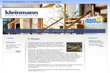 Kleinmann Wyroby Meblowe Sp. z o.o. - Schody drewniane Strzelce Opolskie