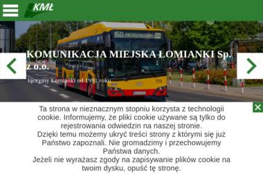 Komunikacja Miejska - Transport Osób Łomianki